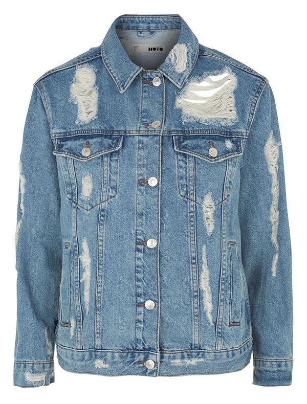 джинсовая куртка рваный деним