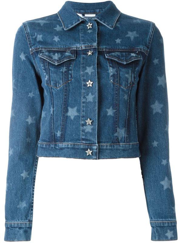 короткий джинсовый жакет со звездами