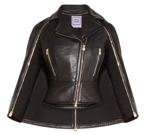 черная кожаная куртка кейп
