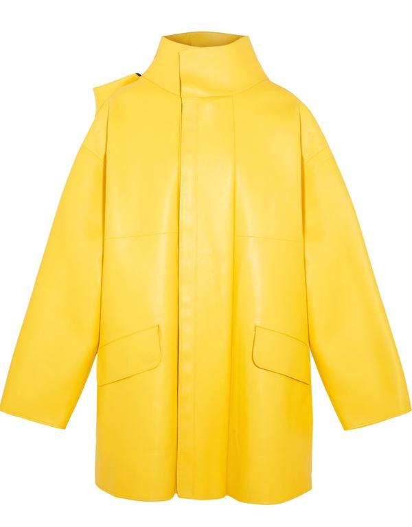 ярко желтая кожаная куртка