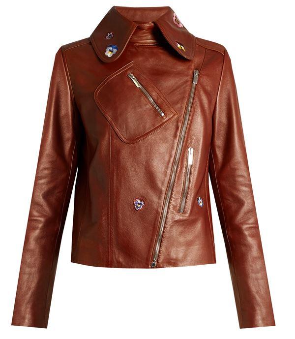терракотовая кожаная куртка