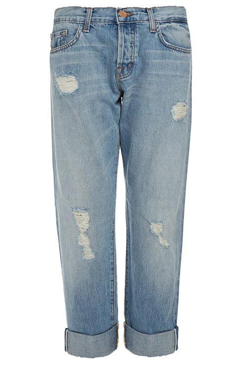 рваные зауженные подвернутые джинсы бойфренды