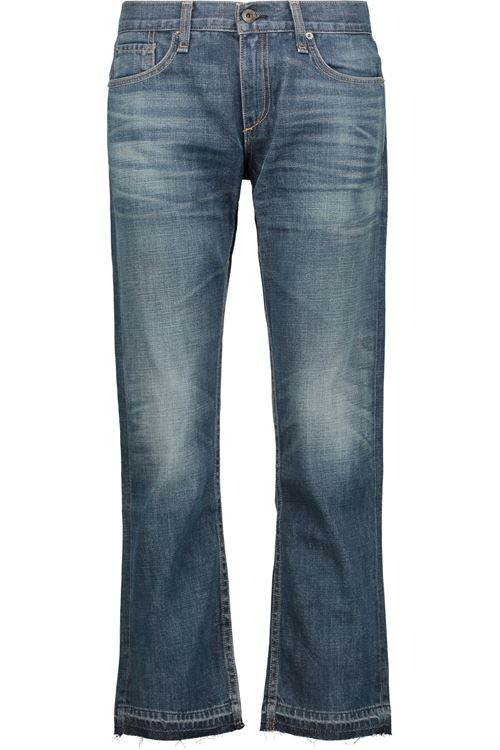 расклешенные джинсы бойфренды