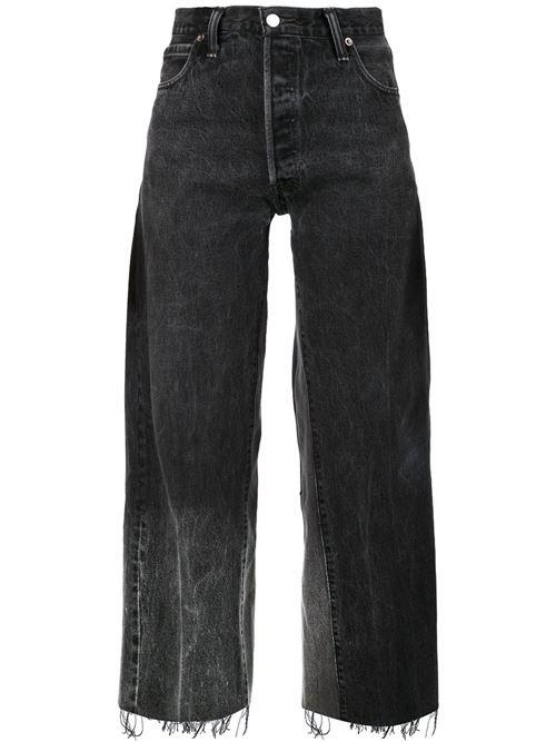 черные широкие джинсы бойфренды