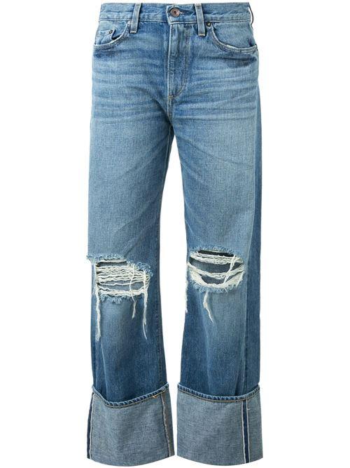 мешковатые рваные джинсы бойфренды