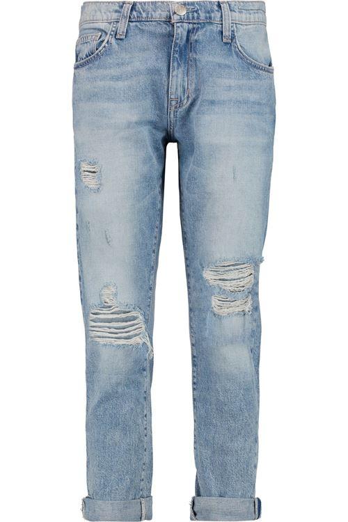 рваные подвернутые джинсы бойфренды
