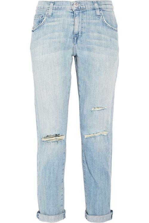 светло-голубые джинсы бойфренды