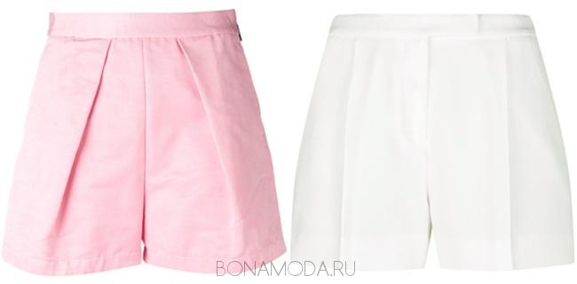 розовые и белые шорты со стрелками