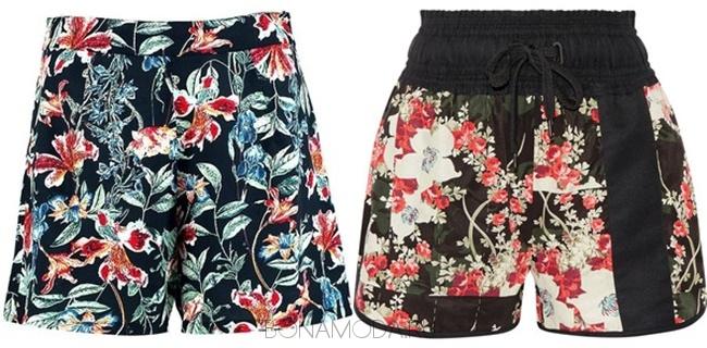 шорты с цветочным рисунком