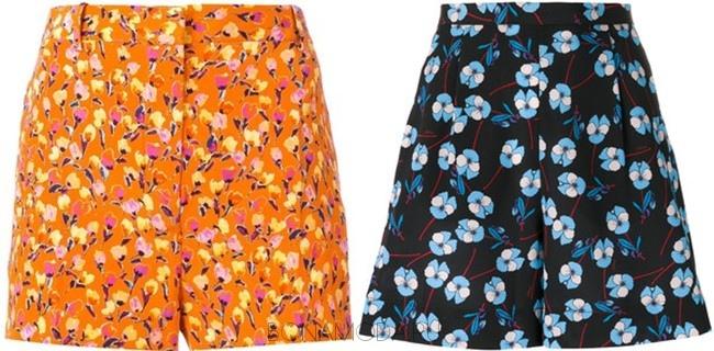 яркие летние цветочные шорты