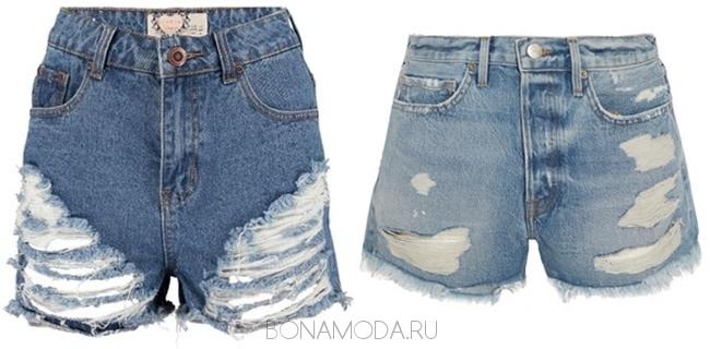рваные джинсовые шорты 2017