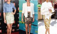 Блестящие золотые юбки с пайетками: фото, тренды, как носить