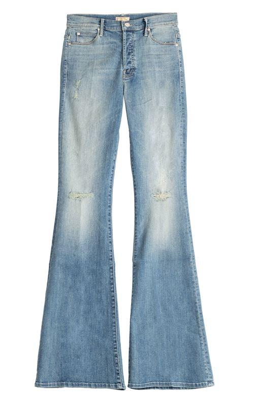 протертые джинсы клеш