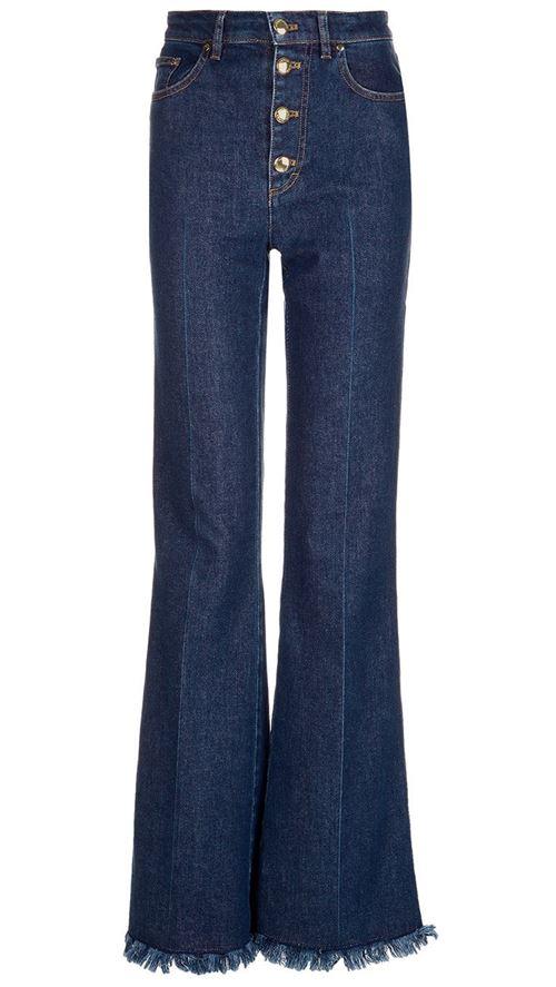 темно-синие джинсы клеш со стрелками