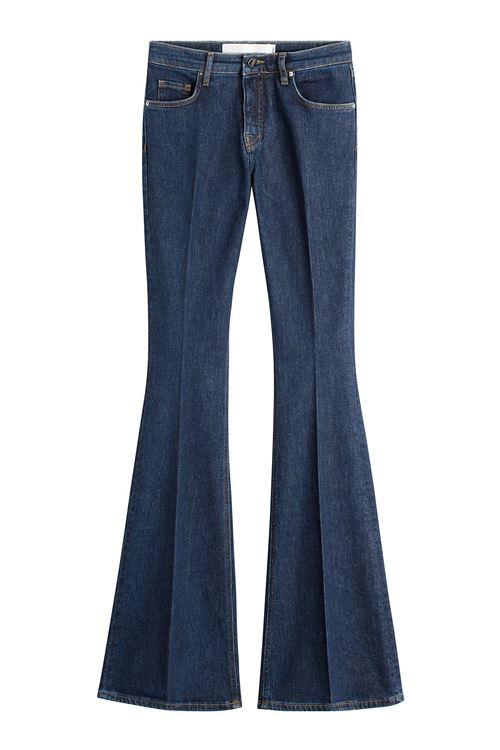 джинсы клеш от колена со стрелками
