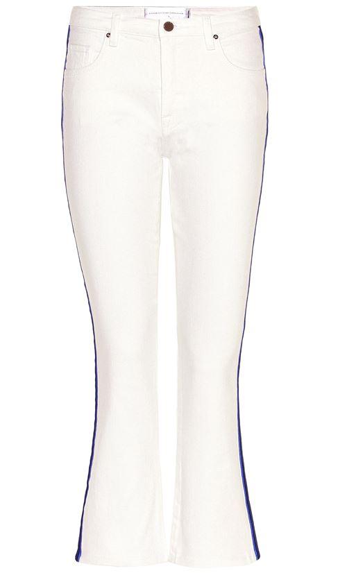 джинсы клеш белые