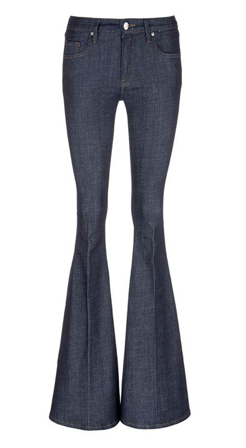 джинсы клеш от колена скинни