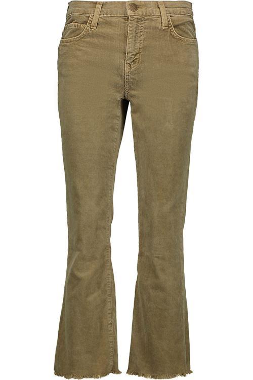 джинсы клеш цвета хаки