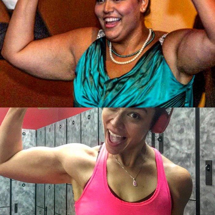 Похудение рук фото до и после