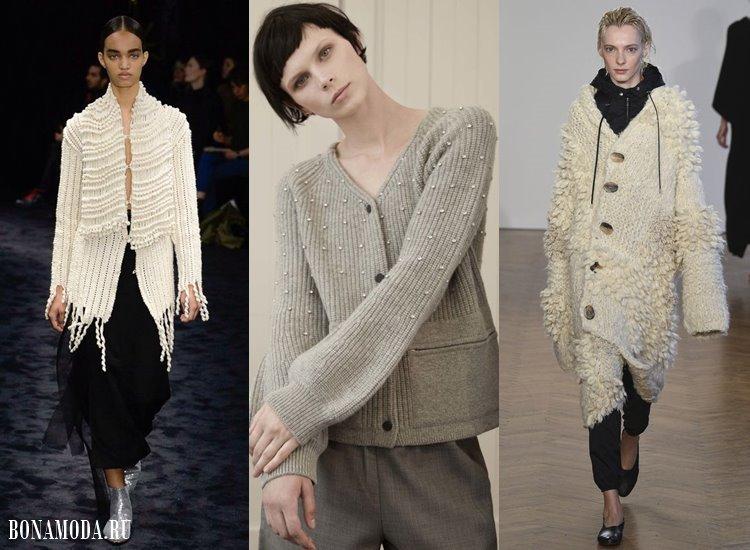 Модные женские кофты и кардиганы 2017-2018: бежевые