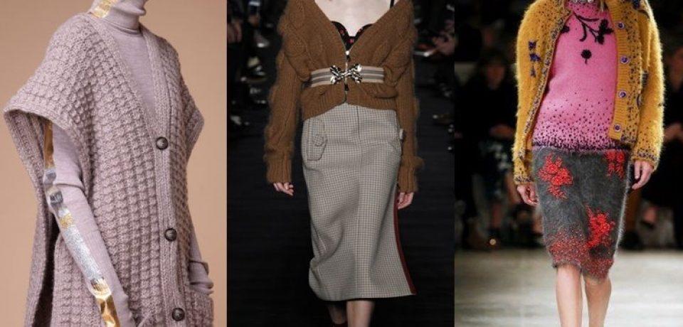 Модные женские кофты и кардиганы 2017-2018