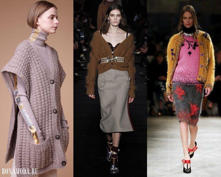 Модные женские кофты и кардиганы 2017-2018: объемные на пуговицах