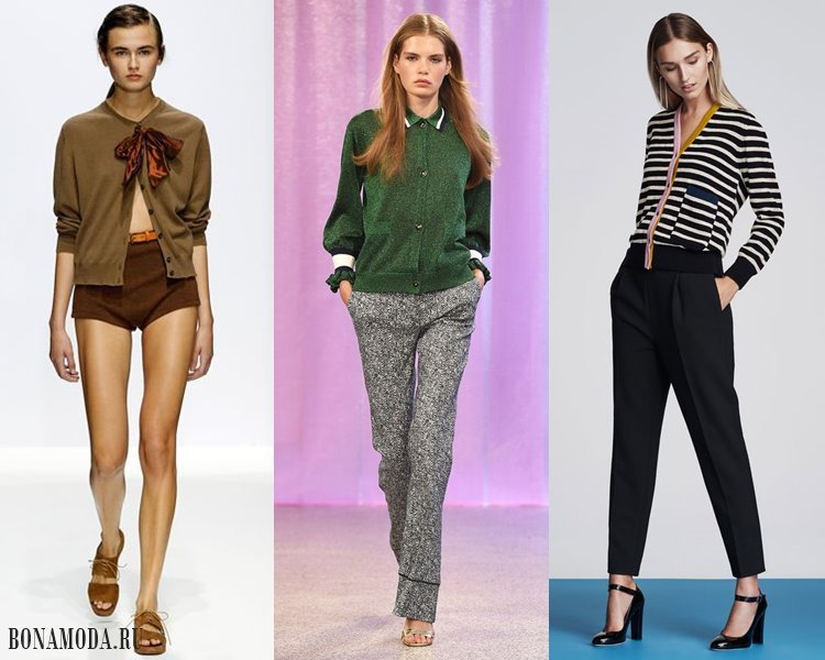 Модные женские кофты и кардиганы 2017-2018: короткие тонкие