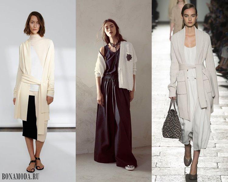 Модные женские кофты и кардиганы 2017-2018: белые и кремовые