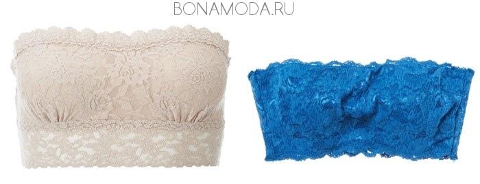 белый и синий лифчик бандо