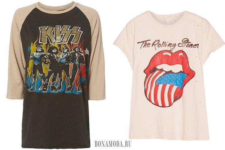 футболки kiss rolling stones