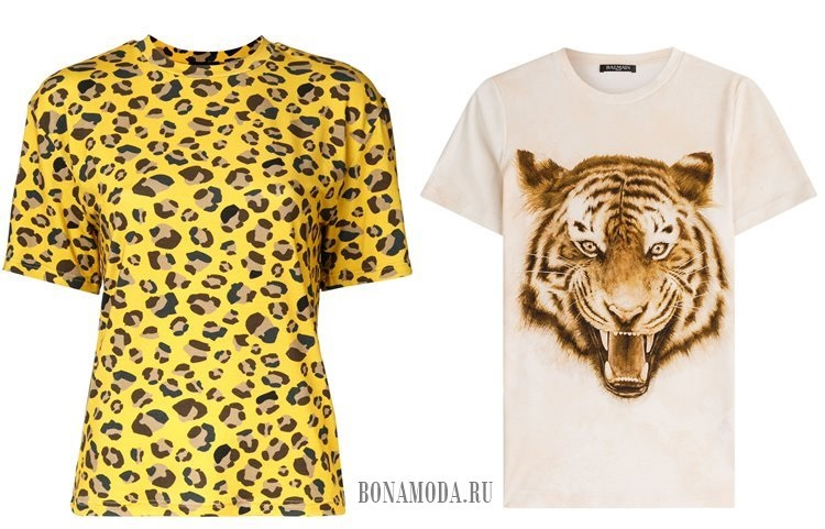 футболки тигр леопард