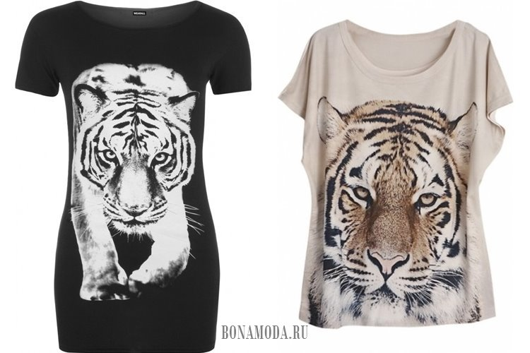футболки с тигром