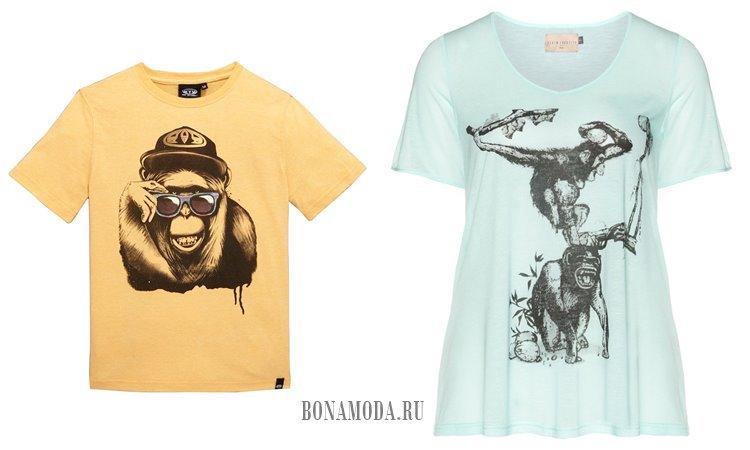 футболки с обезьяной