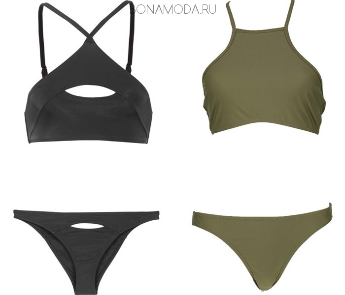 Модные купальники тенденции 2017: лифы-топы