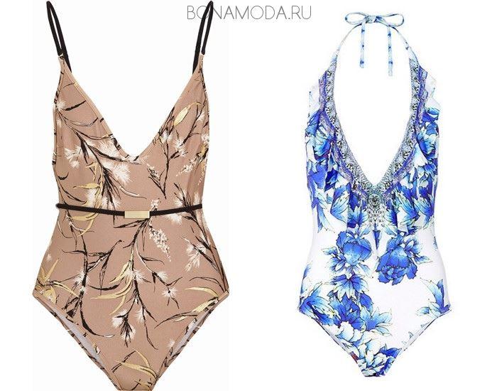 Модные купальники тенденции 2017: слитные с цветочным принтом