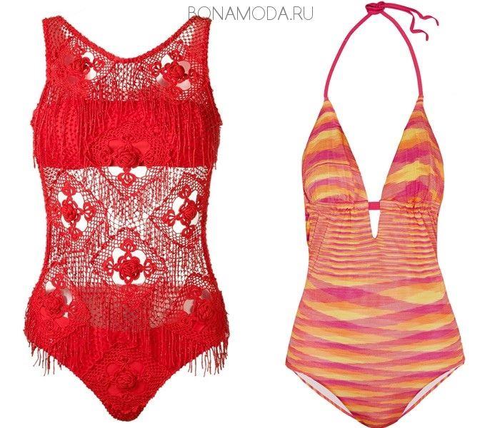 Модные купальники тенденции 2017: трикотажные слитные