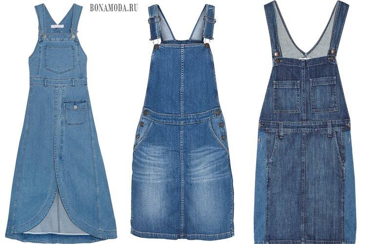 джинсовые сарафаны