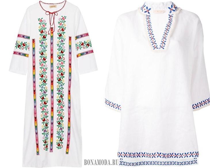 белые славянские туники с вышивкой