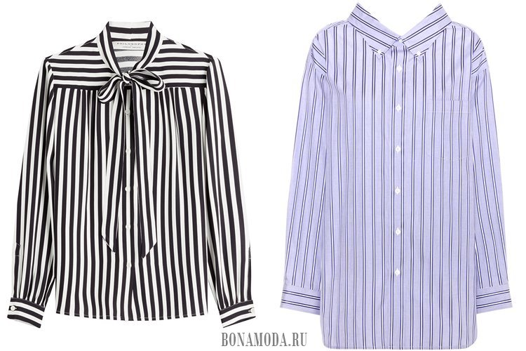 полосатые рубашки 2017