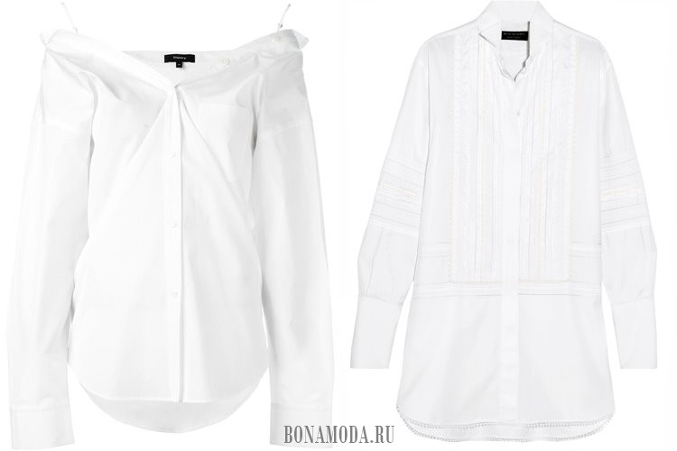 белые рубашки 2017