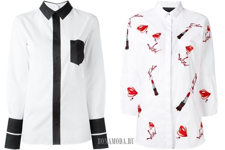 оригинальные белые женские рубашки 2017