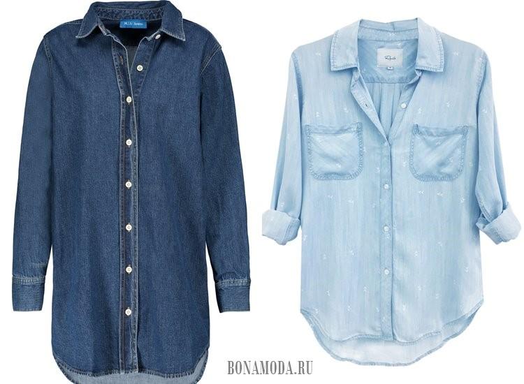 джинсовые рубашки 2017