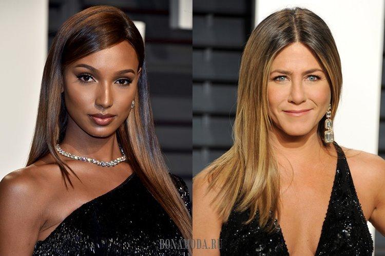 Гладкие блестящие волосы: Жасмин Тук и Дженнифер Энистон