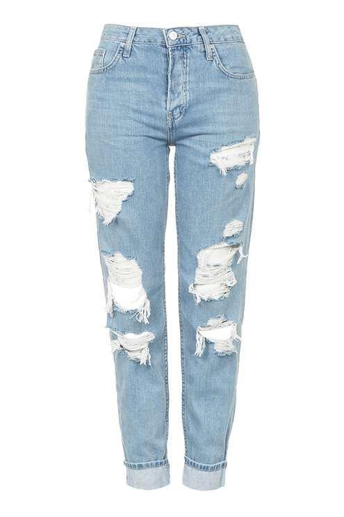 зауженные рваные джинсы