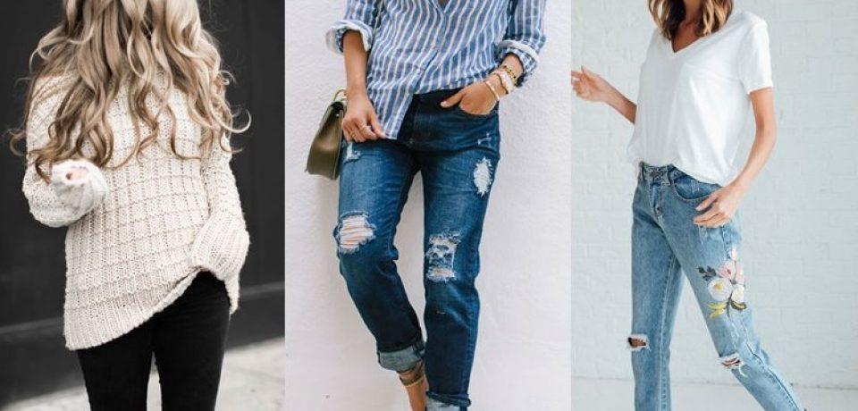 С чем носить рваные джинсы: фото уличного и звездного стиля