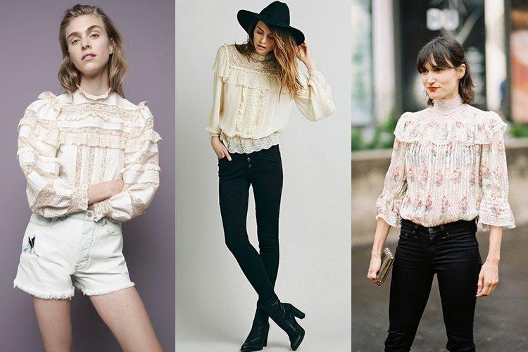 С чем носить викторианские блузки