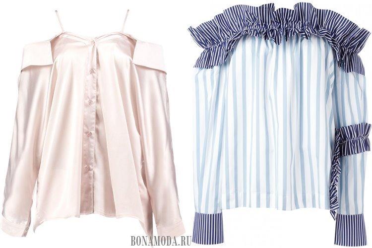 блузки с открытыми плечами 2017