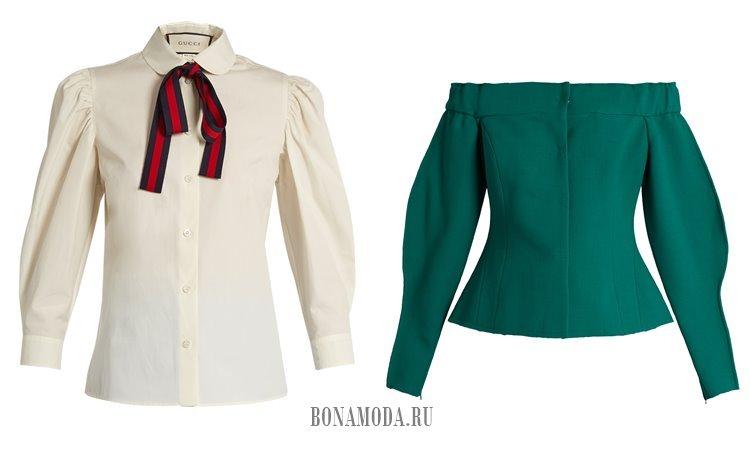 блузки с пышными рукавами 2017
