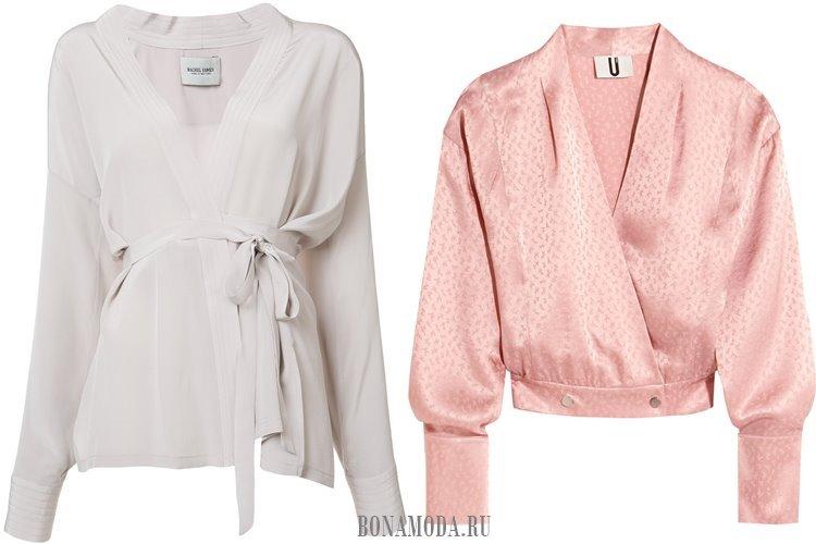 модные блузки с запахом 2017