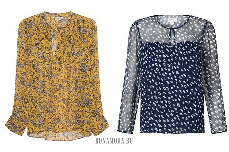 летние шифоновые блузки 2017